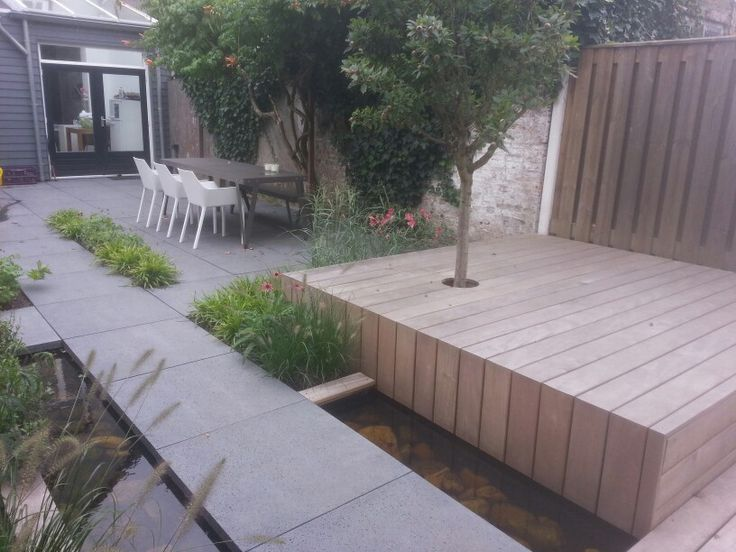 17 best images about outdoor pavement on pinterest for Gardens with decking and paving