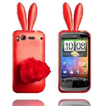 Bunny (Punainen) HTC Desire S Silikonisuojus