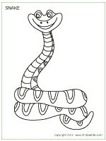 monster snake coloring pages - photo#22