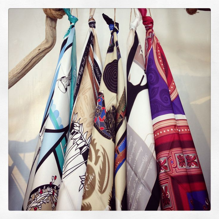 "Selection of the ""Grecian Chic"" silk scarves at ""Under a Fig Tree Boutique""!"