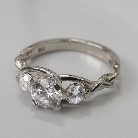 Braided Platinum Engagement Ring  Platinum and by doronmerav, $3700.00