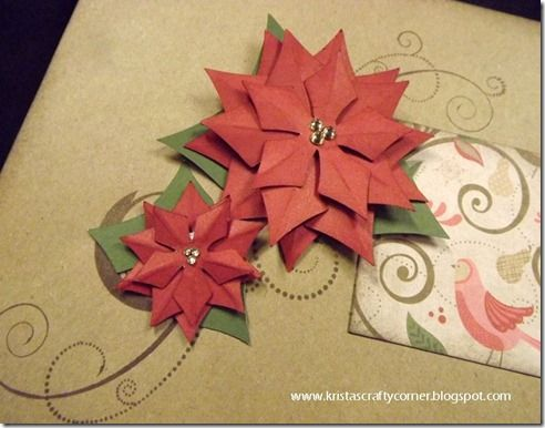 Tutorial on making the poinsettia from CTMH Artiste cartridge