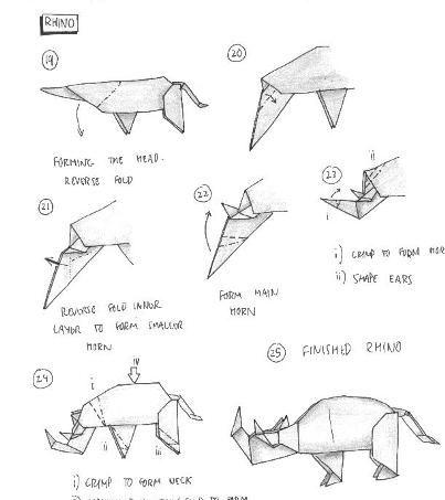 origami rinoceronte