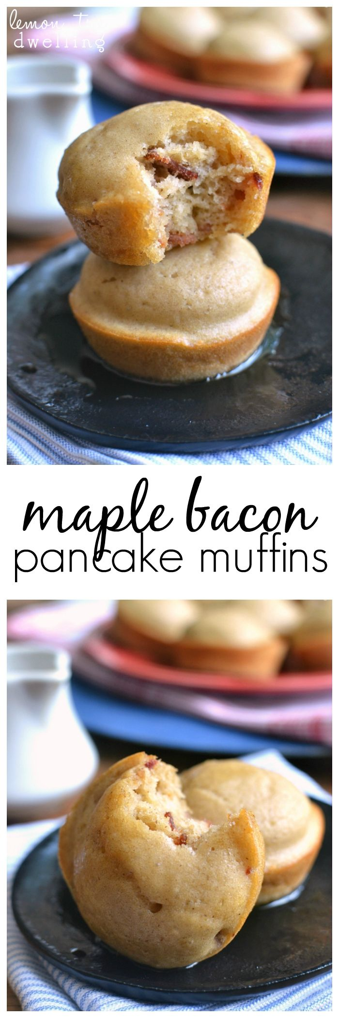 Sweet Maple Bacon Pancake Muffins flavored with maple syrup and real bacon. Serve them warm drizzled with additional syrup or eat them on the go for a quick, easy, and delicious breakfast or snack! Perfect for back to school! #mypicknsave #spon