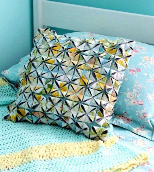Подушка с мотивами оригами Сделай сам. Журнал Guru.ua
