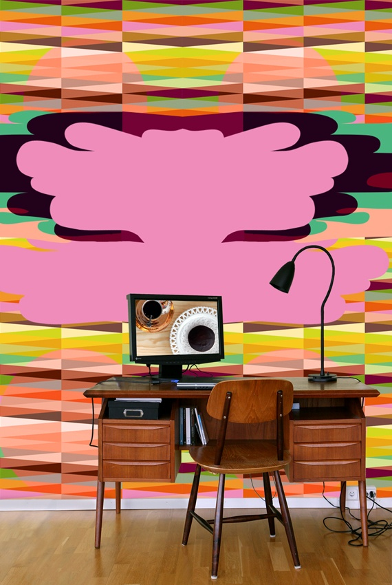 Wallpaper  Harlekin Rio...a new vibrating wallpaper from my new collection Sweet Retro. Someone brave out there?