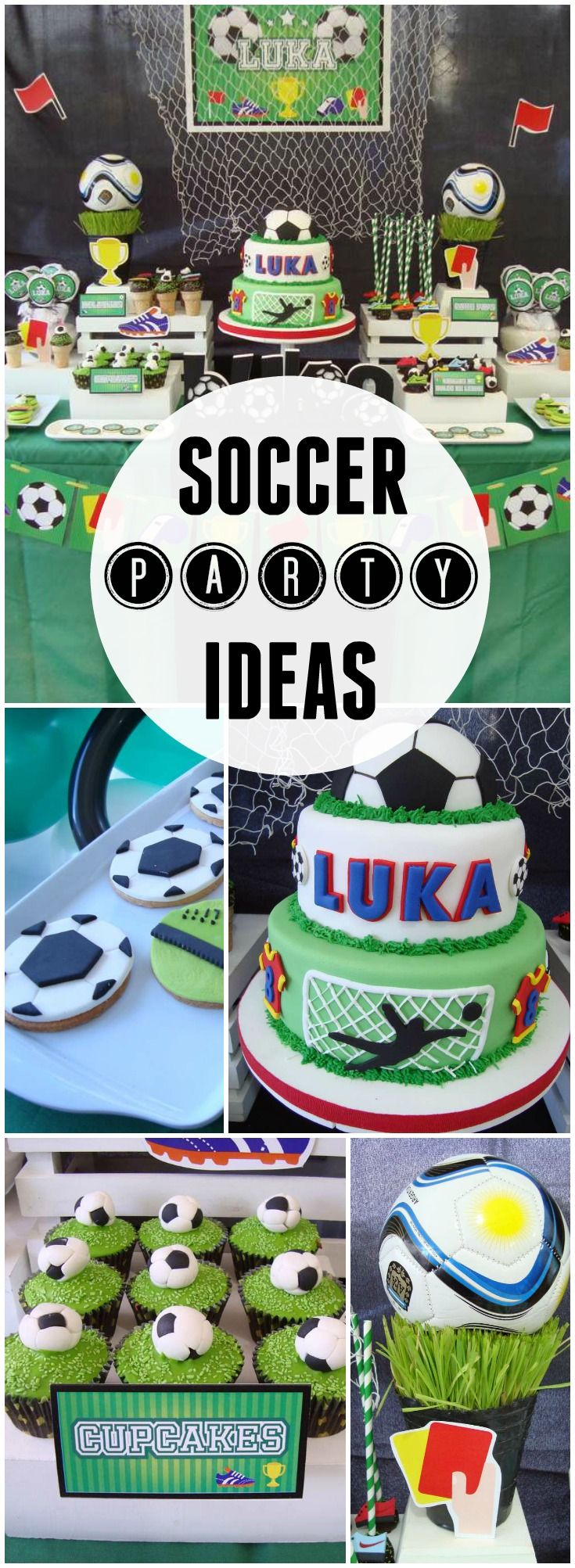 What an awesome soccer birthday party! See more party ideas at CatchMyParty.com!