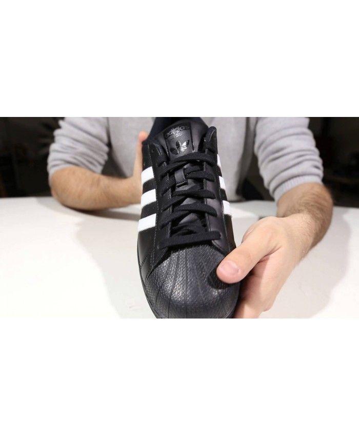 Top Seller Adidas Superstar Mens Black Slip-On Trainers T-1172