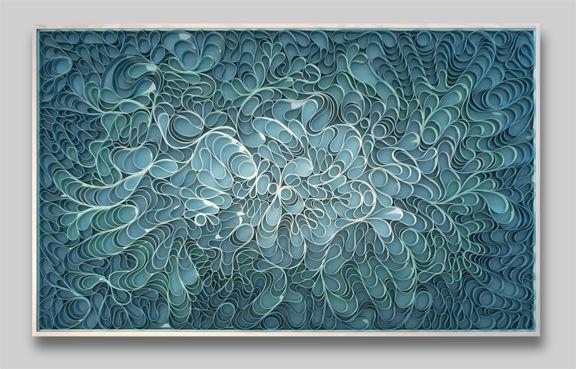 modern, Original artwork, sculpture, abstract art, canvas on edge, fine art, blue, ocean, water, coastal art, seattle, jason hallman, stephen stum, blue,ocean, turquoise, Caribbean