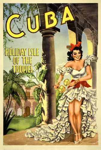 Cuba, Holiday Isle of the Tropics Fine Art Print Poster