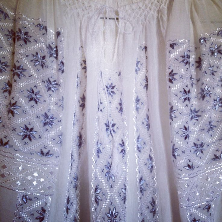 Delicate silk embroidery made by hand on ethnic blouse
