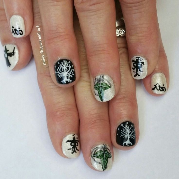 22 best nail art LOTR images on Pinterest | Lord of the rings, Nail ...