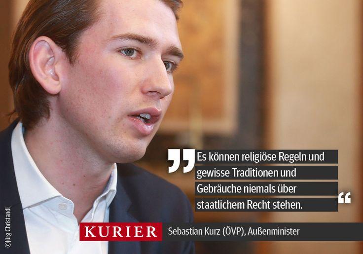 Das Interview mit Außenminister Sebastian Kurz lesen Sie am Freitag im #KURIER oder auf http://kurier.at