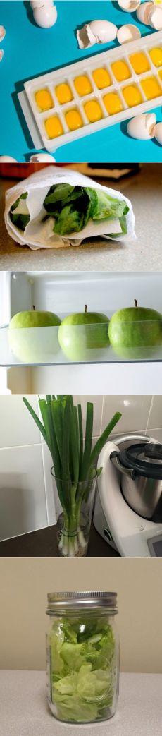 10 хитростей, которые сохранят ваши продукты свежими надолго.