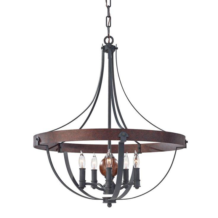 Alston Five Light Chandelier - Elstead Lighting - Netlighting Ltd