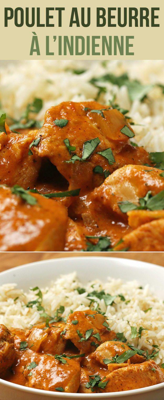 Voici une recette facile de poulet au beurre à l'indienne