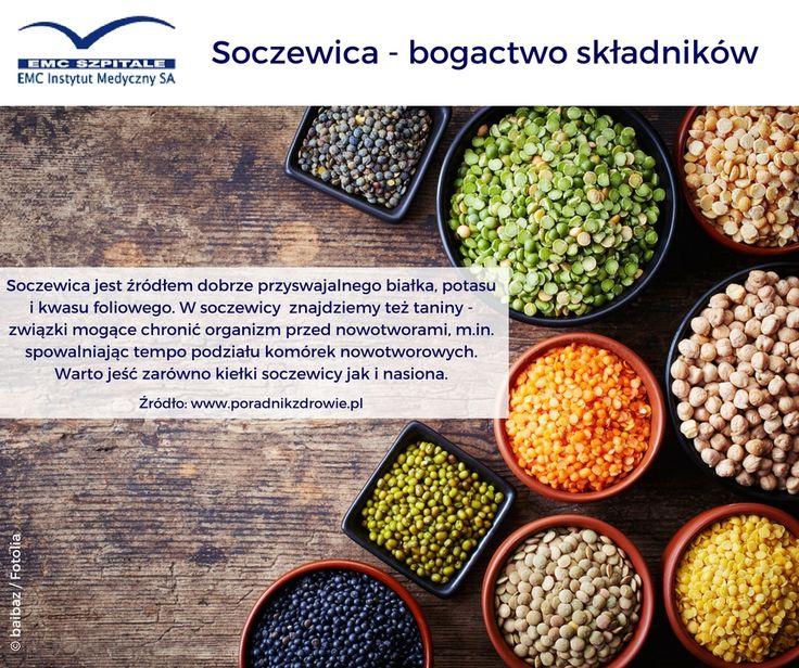 Soczewica jest pyszna, łatwo dostępna, ma wiele rodzajów (czerwona, czarna, zielona, brązowa, żółta) i ma naprawdę wiele właściwości zdrowotnych. Warto włączyć ją do swojej diety. #emc #emcszpitale #soczewica #lentils