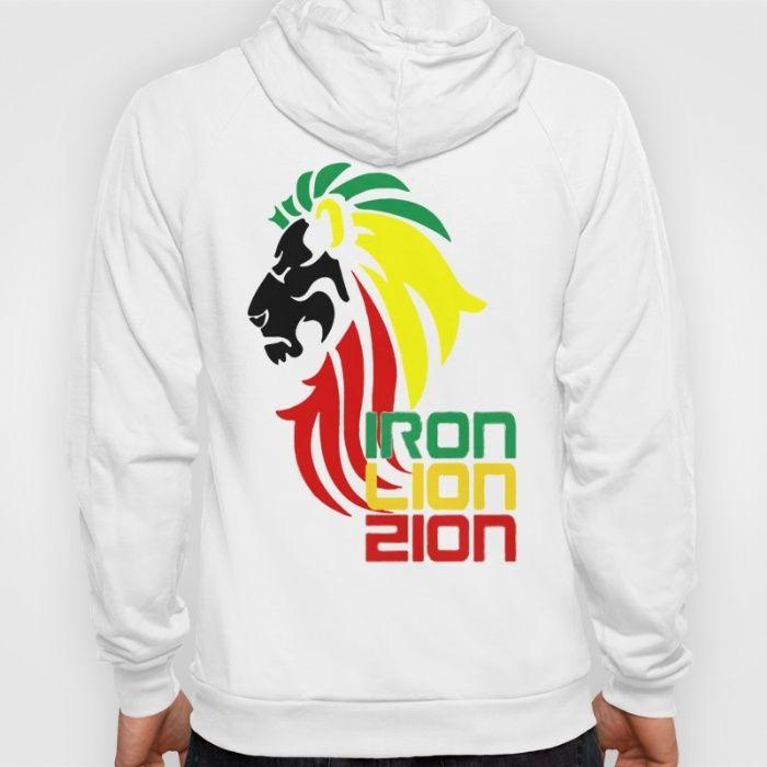 Reggae Rasta, Rastafari Lion Hoody