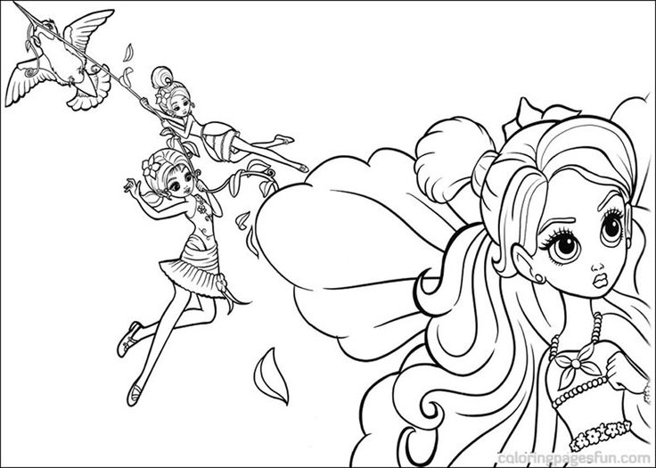 pinkalicious coloring pages | Barbie Thumbelina Coloring ...