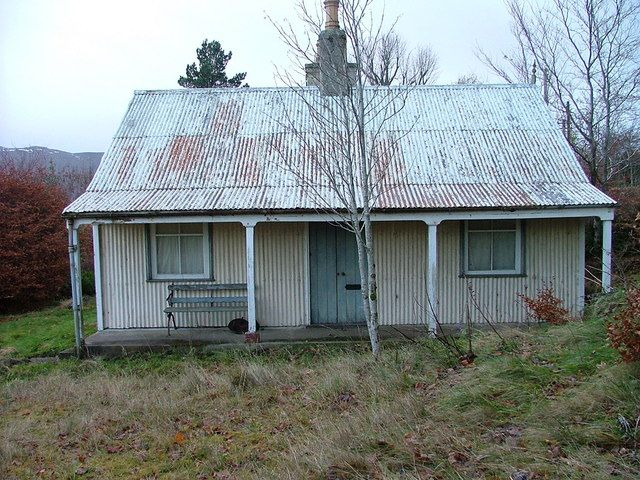 Empty Corrugated Iron House