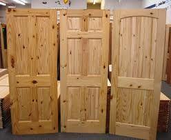 Knotty pine doors