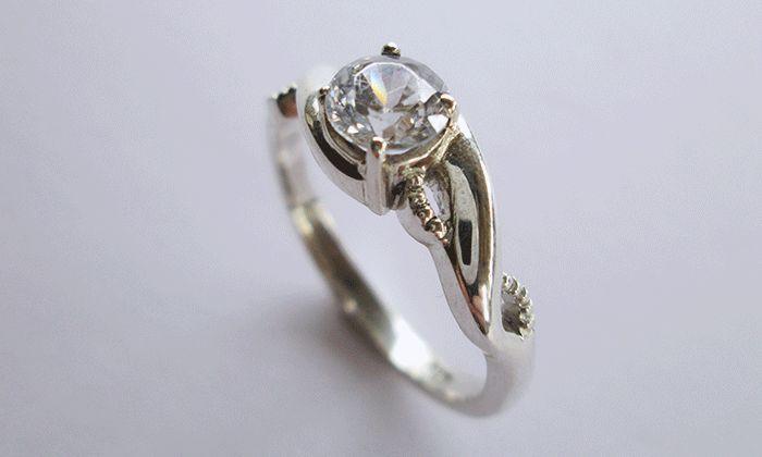 Twisted Engagement ring #diamond #twistyring #uniqueweddingring #kinkel