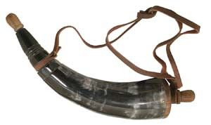 Powder Horn with Wooden Plug