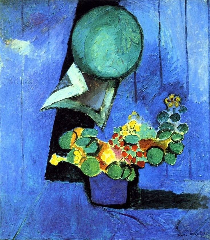 Henri Matisse - Flowers and ceramic plate, 1913