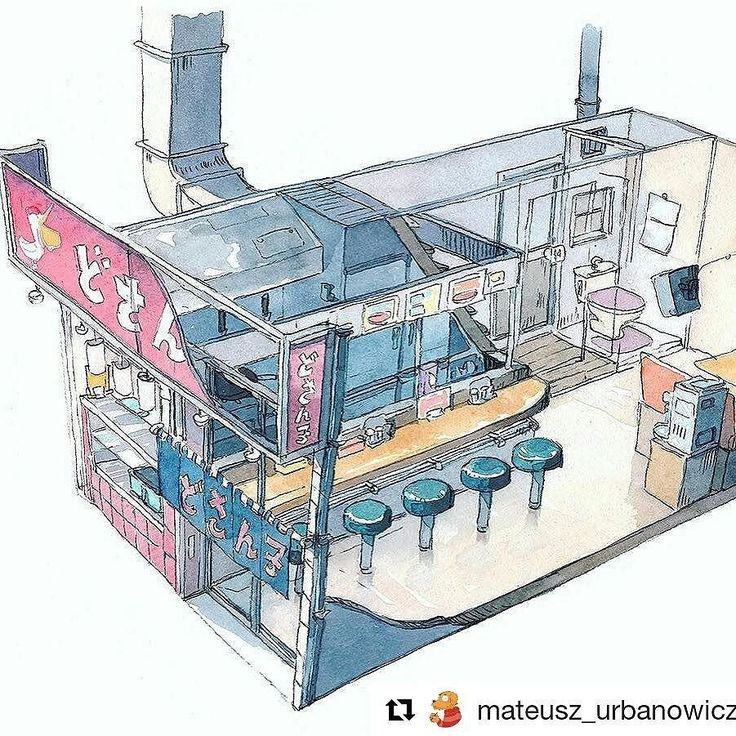 You should check (and follow) this guy. Great artist living in Tokyo. He is working for #CoMixWave with #makotoshinkai on #anime movies. And most of all check his sick #watercolor paintings.  #Repost @mateusz_urbanowicz  A ramen restaurant we ate at. I took photos of the storefront but wanted to do a sketch while I still remember the interior layout.  #FollowFriday #Follow #japan #animation #art #tokyo #artist #drawing #painting #manga #restaurant #crosssection #artursadlos #ramen #sushi…