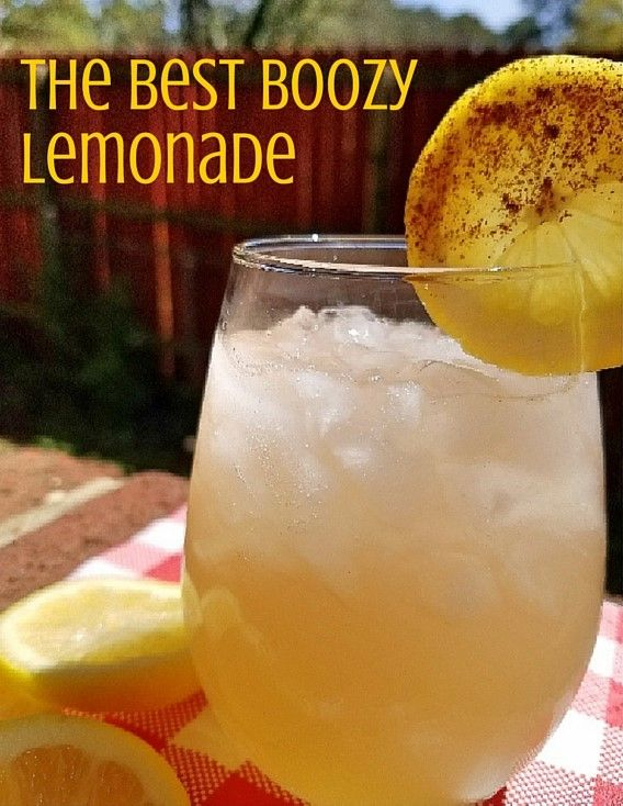 The Best Boozy Lemonade. 1.5 oz. Crown Royal Apple 5 oz. Lemonade Lemon Wheel Cinnamon