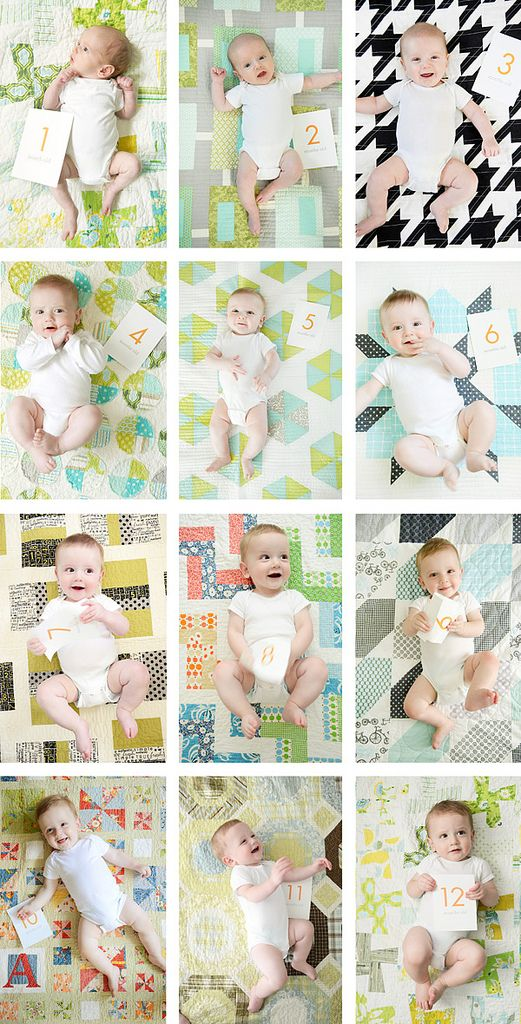Monthly photoWhite Onesies, Photos Ideas, Month Photos, 12 Month, Documents Baby'S, Monthly Baby Photos, Month Pictures, Month Baby, Baby Quilt