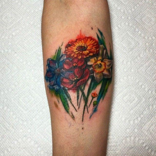 37 best ink images on pinterest botanical illustration for Splash color tattoo