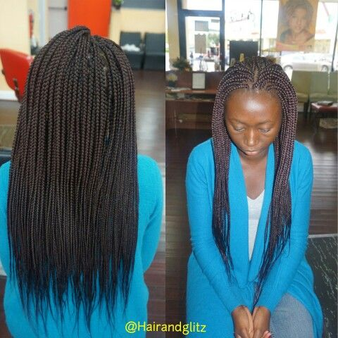 Individual Braids Done With Expression Hair In Color 99j