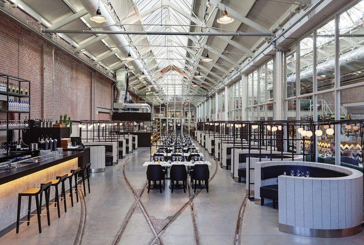 A Amsterdam, une ancienne gare transformée en restaurant - http://www.leshommesmodernes.com/amsterdam-meat-west-restaurant-gare/