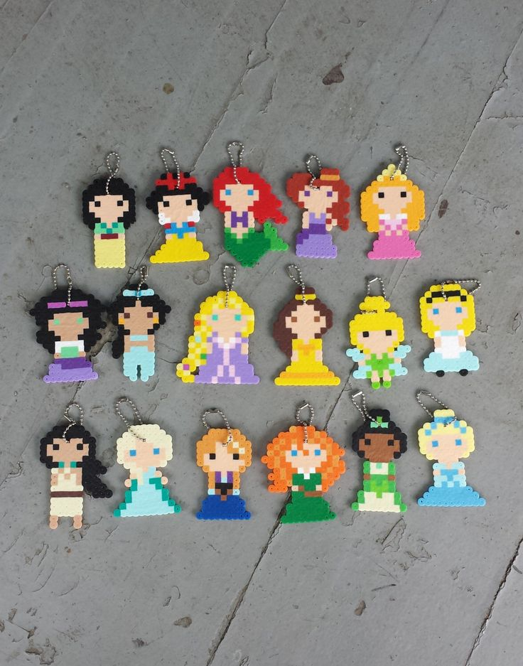 Keychains - Princesses - Party Favors by BurritoPrincess on Etsy https://www.etsy.com/listing/233534122/keychains-princesses-party-favors