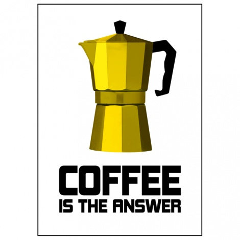Coffee is the answer - Poster by Lina Johansson at Nordic Design Collective. #graduation #linajohansson #poster