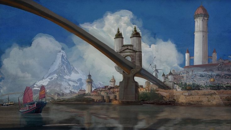 The city of Tar Valon from Robert Jordan's Wheel of Time (WoT) by Phil Lowe