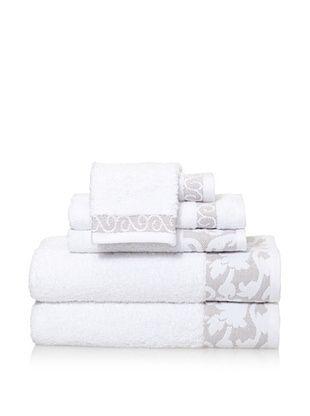Espalma 6-Piece Valuta Bath Towel Set (White)