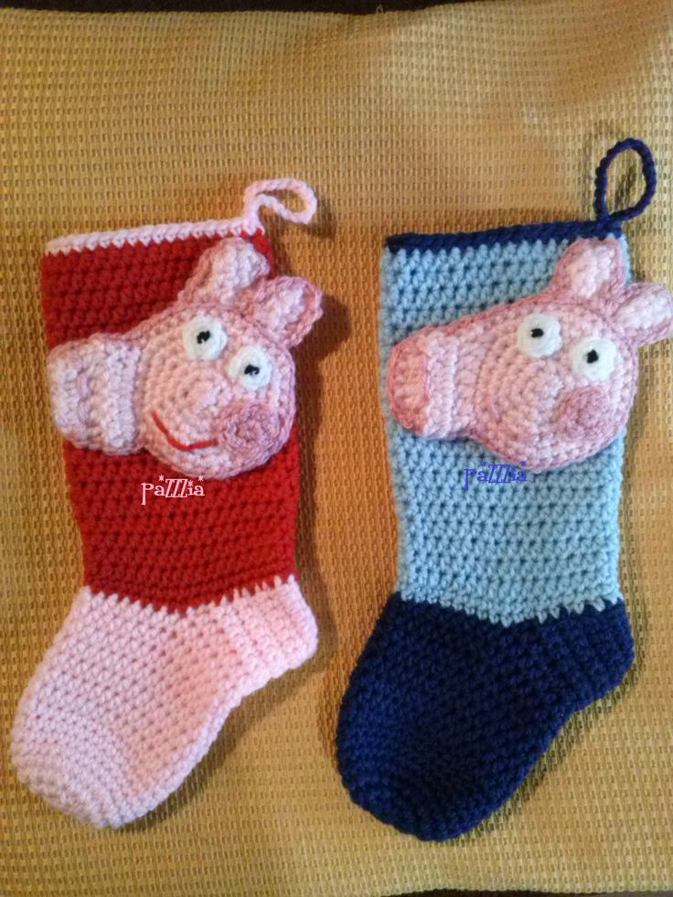 Calze epifania Peppa Pig & George - Christmas Stocking