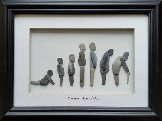 Pebble Art The Seven Ages of Man by CornishPebbleArt on Etsy