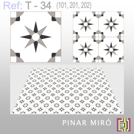 cement tile t 34 pinar mir cement tiles midcentury mod vibe interiors kitchen. Black Bedroom Furniture Sets. Home Design Ideas