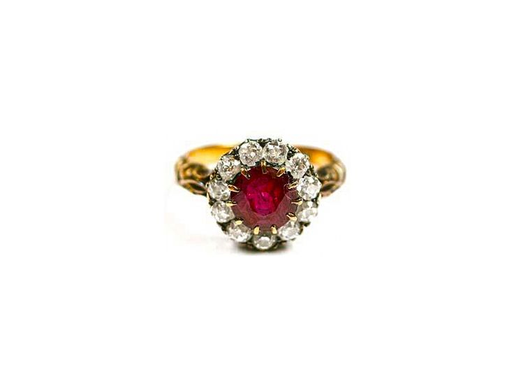Ruby and diamond ring in gold, from Karni Jewellers.