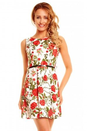 Letní koktejlové šaty - květované