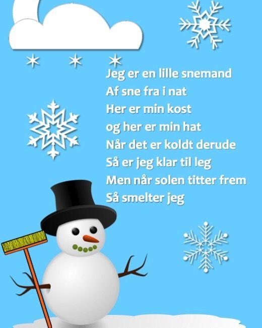 Sprogleg i sneen ... download en remse om en snemand og få inspirationer til læsning og leg i sneen.