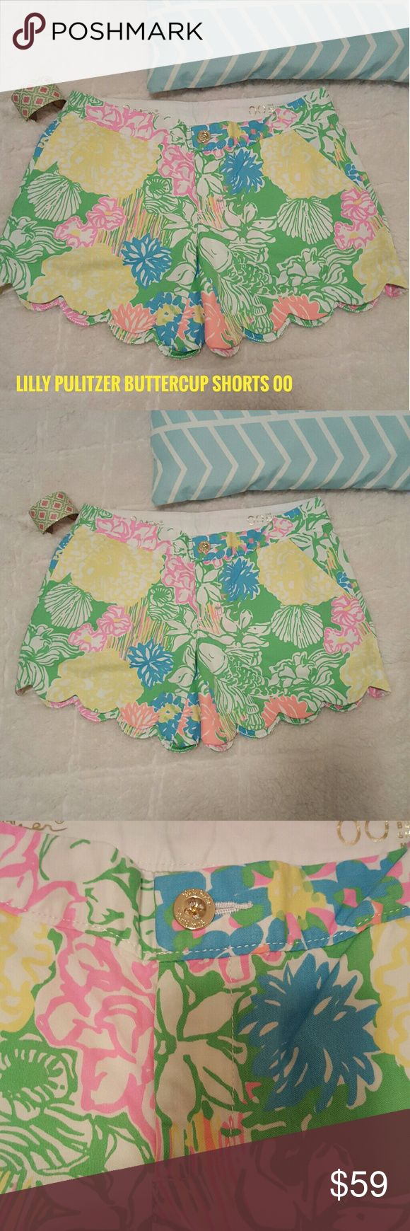 Lilly Pulitzer The Buttercup Scalloped Shorts 00 Size 00 Inseam 5 inches Pretty preppy look for spring and summer!! 30 percent off bundles  See my closet for amazing bundle ideas including swimwear and shoes!! Lilly Pulitzer Shorts