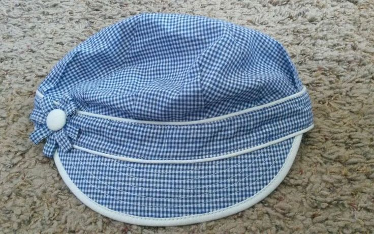 Summer hat - one size fits most - blue and white (girls/juniors/womens hat) | Clothing, Shoes & Accessories, Kids' Clothing, Shoes & Accs, Girls' Accessories | eBay!