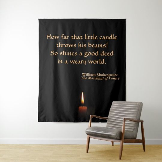 Shakespeare Candle Quotation Wall Tapestry