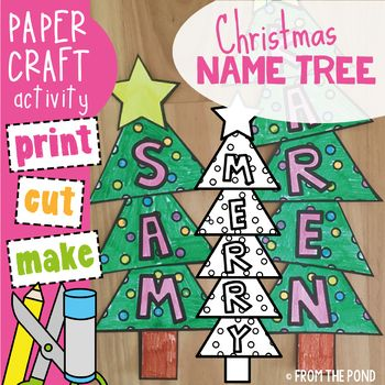 Students will love making a Christmas tree to feature their name or a classroom focus word! This packet will provide you with template pieces to make a cute 'word tree' for each student. Use traditional colors or mix it up with brights!