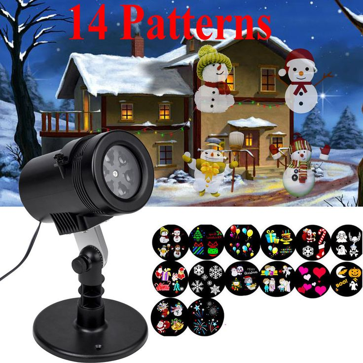 Christmas Projector Light Moving LED Laser Lamp Lanscape Garden Outside Xmas #Unbranded #ForChristmasPartyHouseDecor
