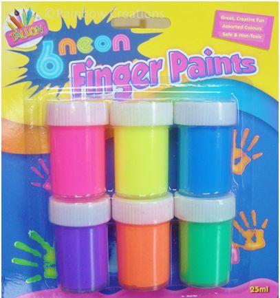 Rainbow Creations Neon Finger Paints